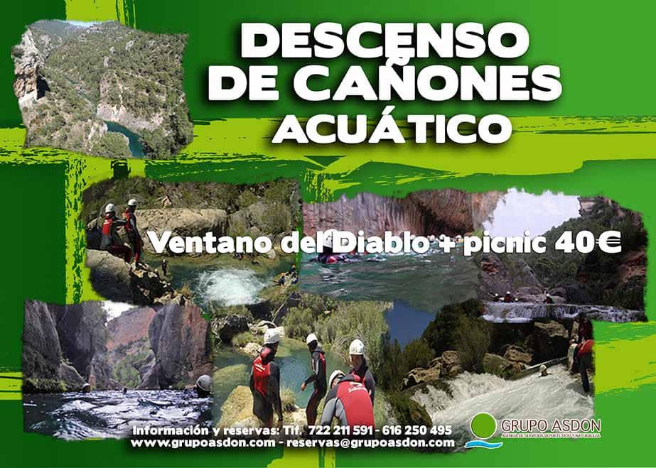 10 de agosto 2019 - Descenso de cañones + picnic en El ventano del Diablo