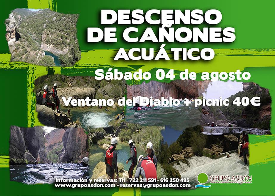 04 de Agosto 2018 - Descenso de cañones + picnic en El ventano