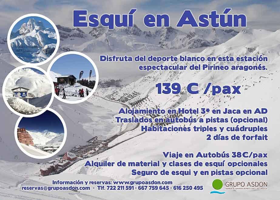 17-19 de enero - Fin de semana de esqui en Astún