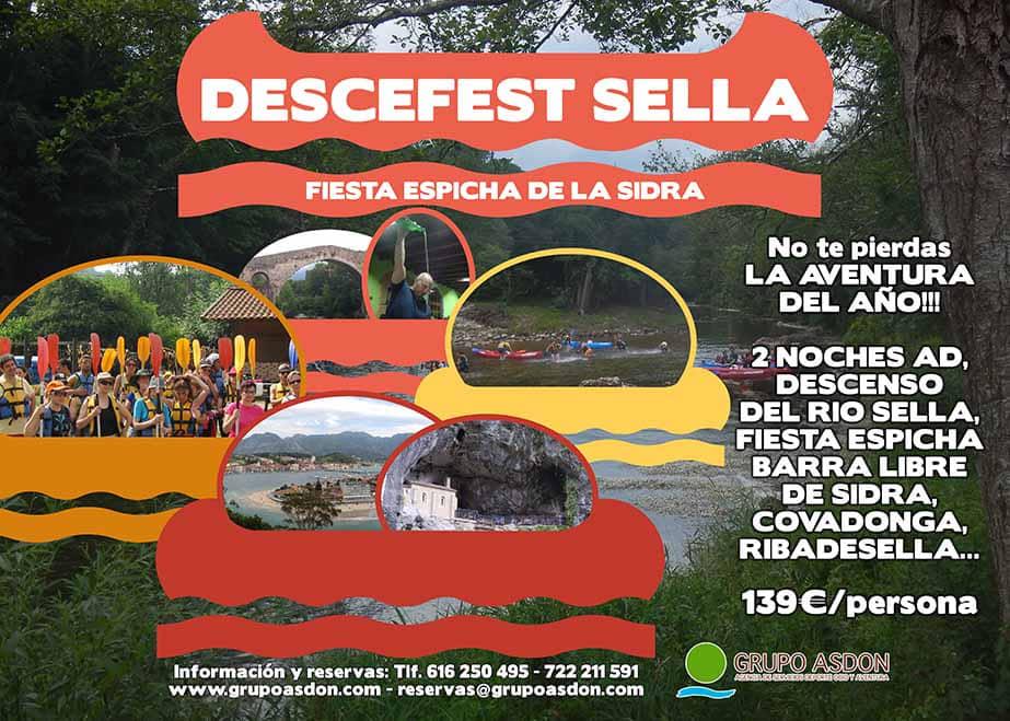 12 - 14 de julio - Fiesta Espicha en Cangas de Onis y descenso del río Sella.