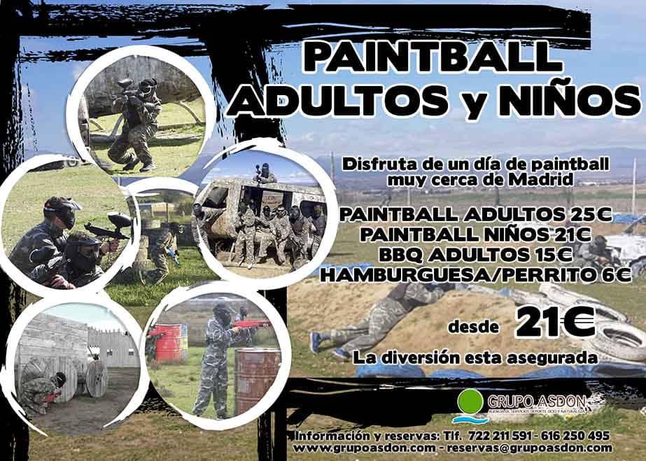 26 de mayo - Paintball en Madrid para adutos y niños