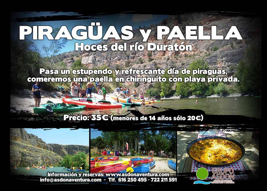 16 de junio de 2019 - Hoces del rio Duratón y paella en chiringuito.