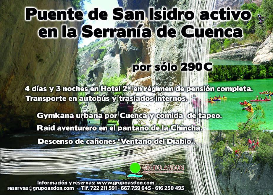 12 -15 Puente San Isidro - Barranquismo, raid aventura y gymkana urbana en Cuenca