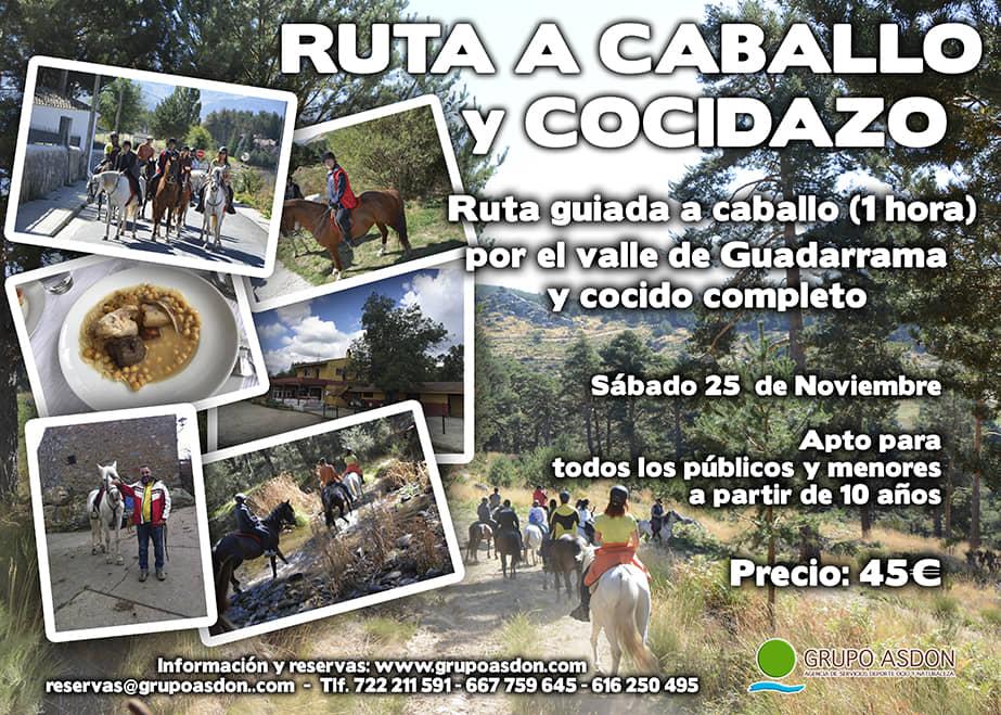 25 Noviembre 2017 - Ruta a caballo y cocido en el Escorial.
