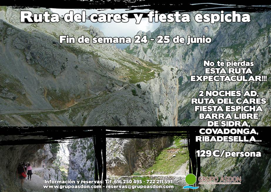 24 -25 Junio - Ruta del cares y Fiesta espicha en Cangas.