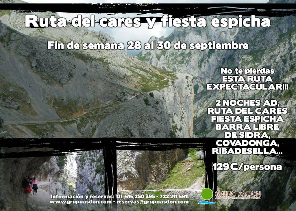 28 - 30 de septiembre - Ruta del cares y Fiesta espicha en Cangas.