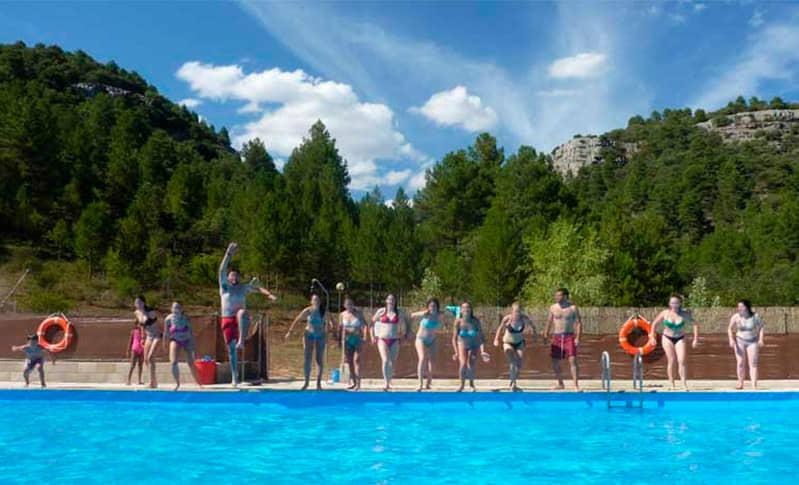 Piscina de verano para los campamentos