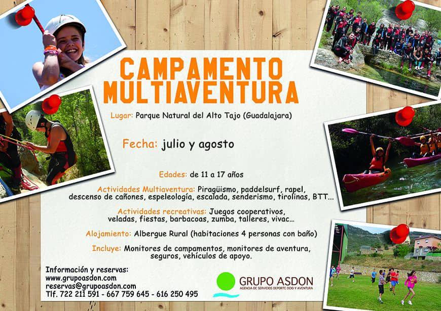 CAMPAMENTO MULTIAVENTURA  (Guadalajara)