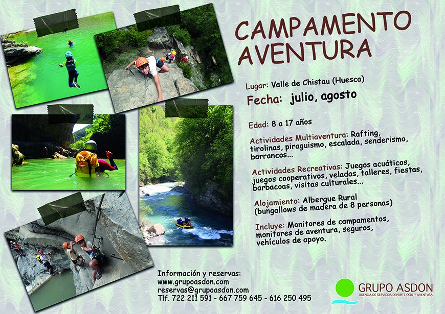 CAMPAMENTO MULTIAVENTURA  (Huesca)