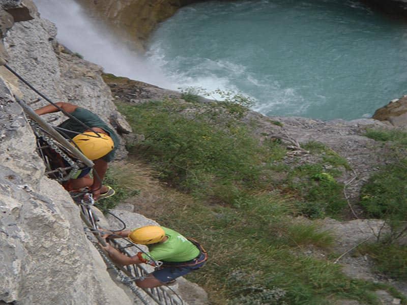 Via ferrata en Pirineos