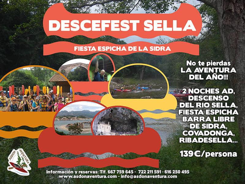 Fiesta Espicha en Cangas de Onis y descenso del río Sella.