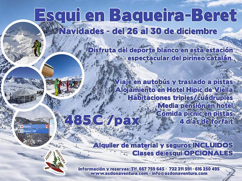 Navidades esquiando en Baqueira-Beret