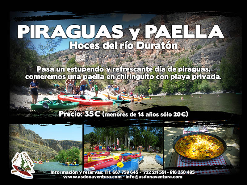 Hoces del rio Duratón y paella en chiringuito.