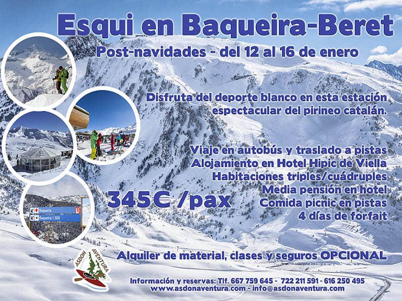 4 Dias esquiando en Baqueira-Beret