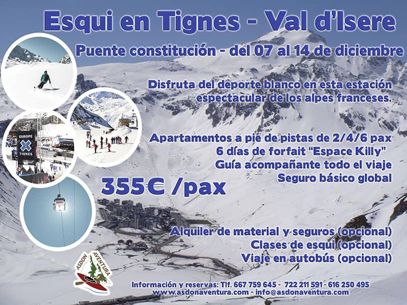 Puente de diciembre esquiando en Tignes.