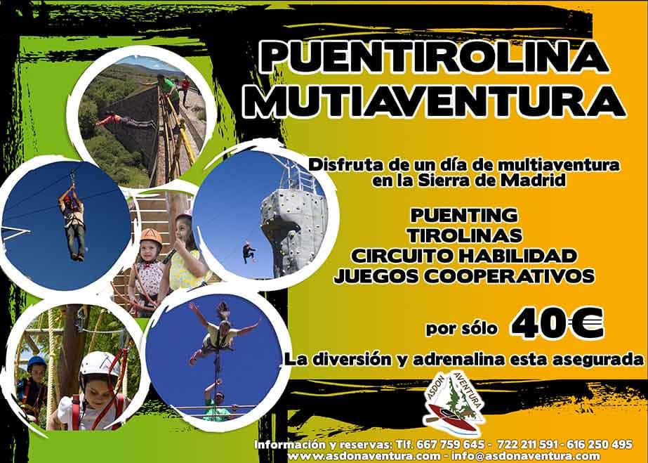 23 DE JUNIO - PUENTING Y CIRCUITO MULTIAVENTURA CON TIROLINA